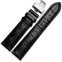 12-28mm classique en cuir véritable rapide Bracelet en déploiement de presse Fermoir Papillon Bracelet de montre…