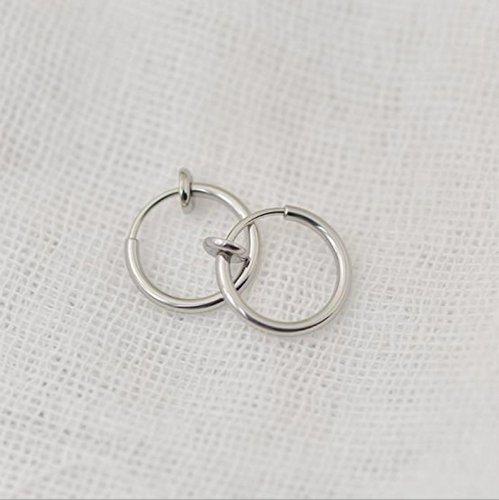 Vulna (TM) Naso finto Piercing falso naso anello unisex Setto falso Piercing indolore clip sul naso labbro dell'orecchio del cerchio dell'anello