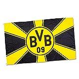 Borussia Dortmund BVB Hissfahne Strahlenmuster