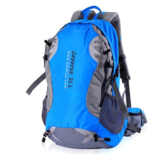 Outdoor Oxford Bergsteigen Tasche Paare Reise Rucksack 45L Blue