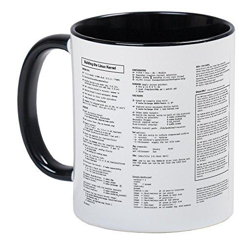 CafePress Tasse Linux refcard-Einzigartige Kaffee Tasse, Kaffeetasse, Small White/Black Inside (Linux-kaffee-tasse)