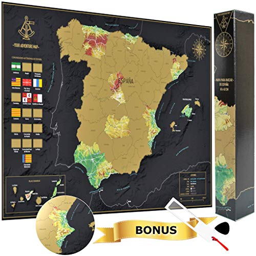 Your Adventure Mapa España Para Rascar 65 x 42 -