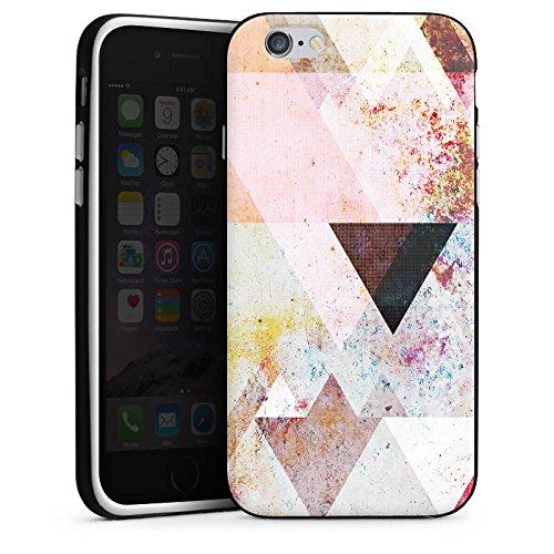 Apple iPhone 5s Housse étui coque protection Triangles Triangles Triangles Housse en silicone noir / blanc