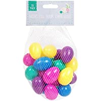 25 Gemischte Farben Befüllbar Plastik Überaschungseier - Füllventil Mit Easter Jagd Geschenke Und Schokolade