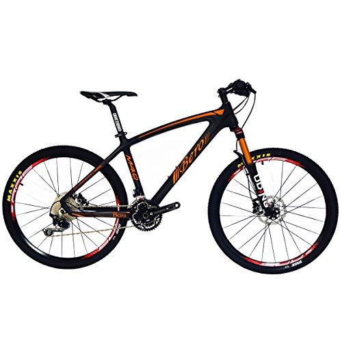 Beiou CB024 Hardtail-Mountainbike, mit Shimano M610 Deore 30-Gang-Kurbelgarnitur, Toray T800-Karbonfaser, ultraleichter Rahmen, 10,65 kg, 26-Zoll-Räder, Damen, Mattes Orange, 17-Inch