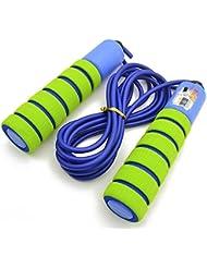 Wowfeu Corde à Sauter Réglable avec Compteur et Poignées Confortable, Sport et Fitness