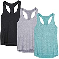 icyzone Activewear Running Workout Clothes Yoga Racerback Tank Tops for Women