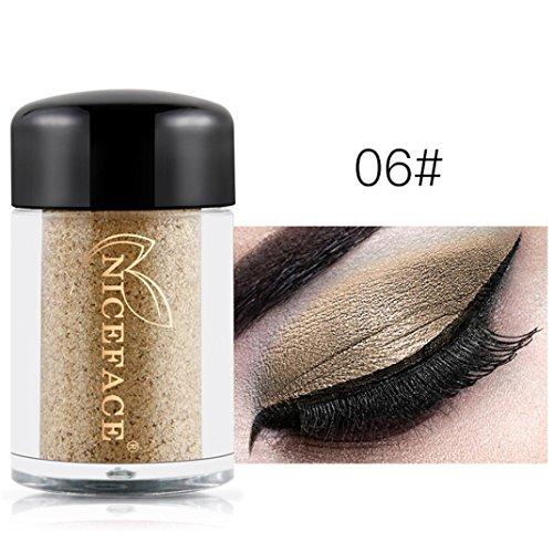 Ombre à Paupières, Malloom NICEFACE 17 couleurs Ombre à paupières Maquillage imperméable à l'eau Perle métallisée Palette d'ombre (06#)