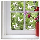 Fensterbild Schmetterlinge Fenstertattoo Fenstersticker Dekoration für Fenster