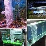 Dabixx Aquarium Fish Tank Isolation Divider Filter Patition Board Net Divider Holder Black 30x30cm 1 Set 10
