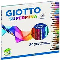 Giotto 235800 Pastelli Supermina, 3.8 mm, Confezione da 24