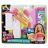 Barbie DWK51 Mattel Wasserfarben Design Rosa, Mode Set, Puppen-Kleidung
