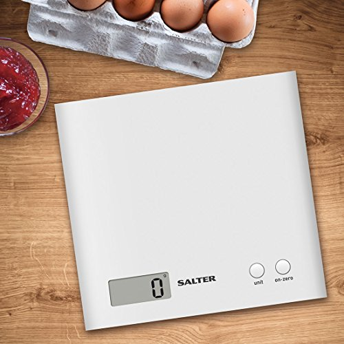 Salter Arc Digital Kitchen Scales – As Seen on TV, Electronic Food Weighing, Slim Design Cooking Scale for Home, LCD…