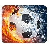 Feuer und Wasser Fußball Gaming Maus Pad Matte Mousepad mit rutschfester Gummi-Rückseite