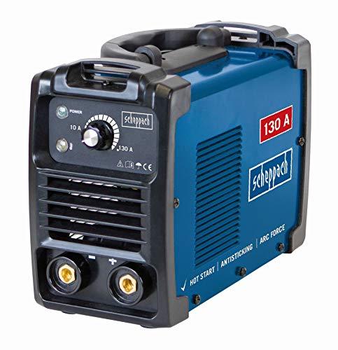 Scheppach Elektroden Schweißgerät WSE860 (bis 130 A, 85 V, Heißstart, Anti-Hafttechnik, dynamische Stromregulierung, Überlastungsschutz) inkl. umfangreichem Zubehör