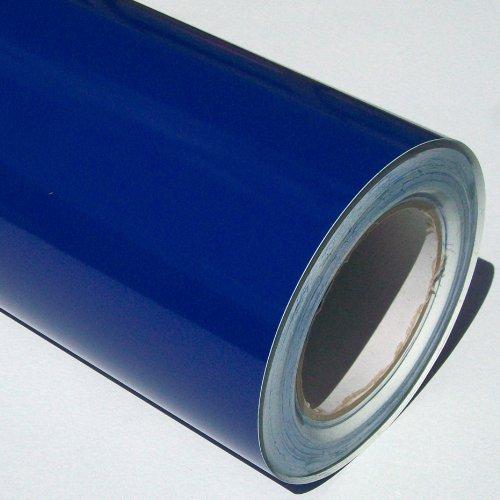 Rollo de Vinilo Autoadhesivo, Parte Trasera Brillante, ultramarina, Azul, 5 m x 61 cm