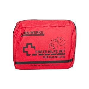LEINA-WERKE 52000 Erste-Hilfe-Set für Haustiere, Rot Farbe, Schwarz Druck