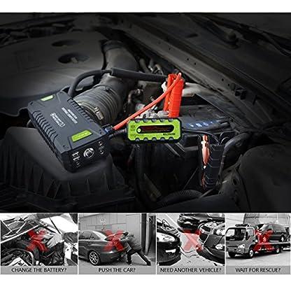 51xlM5AEUqL. SS416  - Dr.Auto - Arrancador de Coches 1000A, 20000mAh, Jump Starter Portatil 12V Baterías Soporte Vehículo de Gasolina