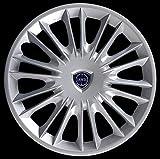 Generico Lancia New YPSILON Oro Copricerchio Borchia Quattro (4) Coppa Ruota 15' 4289LC Logo Cromato Logo Blu Prod. Nuovo dal 2008