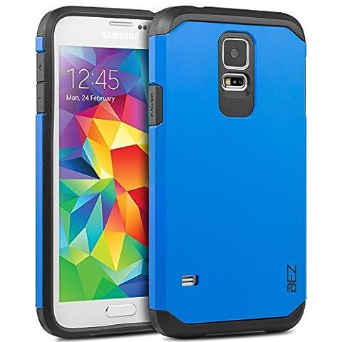 Coque Samsung Galaxy S5 / S5 NEO, Housse Etui Antichoc Survivor Double Protection pour Samsung Galaxy S5 / S5 NEO Resistante - Bleu Marine