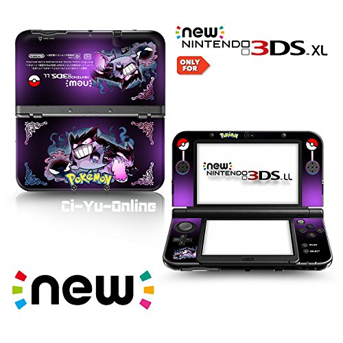 Ci-Yu-Online VINYL SKIN [new 3DS XL] - Pokemon #2 Gastly Haunter Gengar - Limited Edition STICKER DECAL COVER for NEW Nintendo 3DS XL / LL Console System by Ci-Yu-Online (Pokemon 3ds Xl Cover)