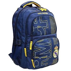 51xlNT6KQDL. SS300  - Real Madrid Exclusiv y ergonómico Mochila Ronaldo escolar mochila, 45x 30x 23cm inoxidable