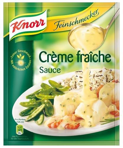Knorr Feinschmecker Creme Fraiche Sauce, 21er Pack (21 x 250 ml Beutel)