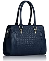 KCMODE Damen Designer marineblau Celebrity Style Damen Faux Croc Leder Tote Handtasche