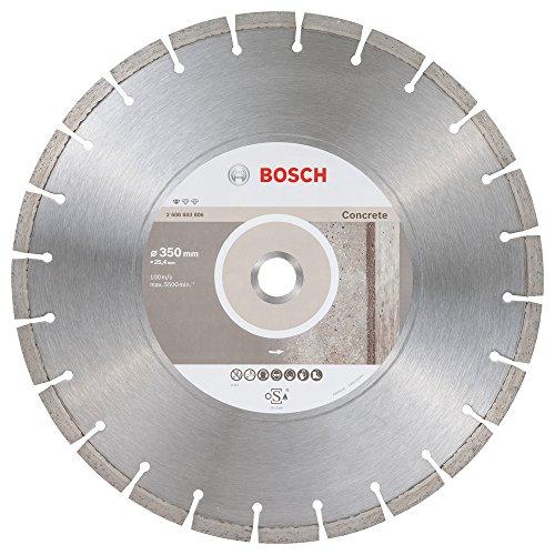 """Bosch Professional 2608603806 Diamanttrennscheibe\""""Professional\"""" für Beton 350x25,4mm, 350 x 25,40 x 2,8 x 10 mm"""
