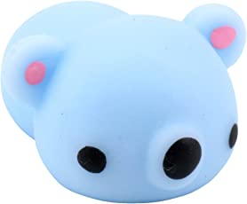 Fansport Squishy Toy Squeeze Toy Mini Kawaii Animal Shapes Stress Relief Slow Rising Toy One Size Sky Blue Koala