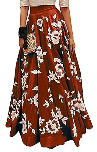 Vaankosh Fashion Women's New latest Collection Embroidered Lehenga/Skirt (Maroon)