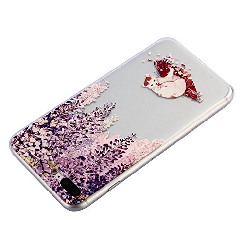 iPhone 7 Plus Hülle, Voguecase Silikon Schutzhülle / Case / Cover / Hülle / TPU Gel Skin für Apple iPhone 7 Plus/iPhone 8 Plus 5.5(Teppich 12) + Gratis Universal Eingabestift Weiß Katze 09