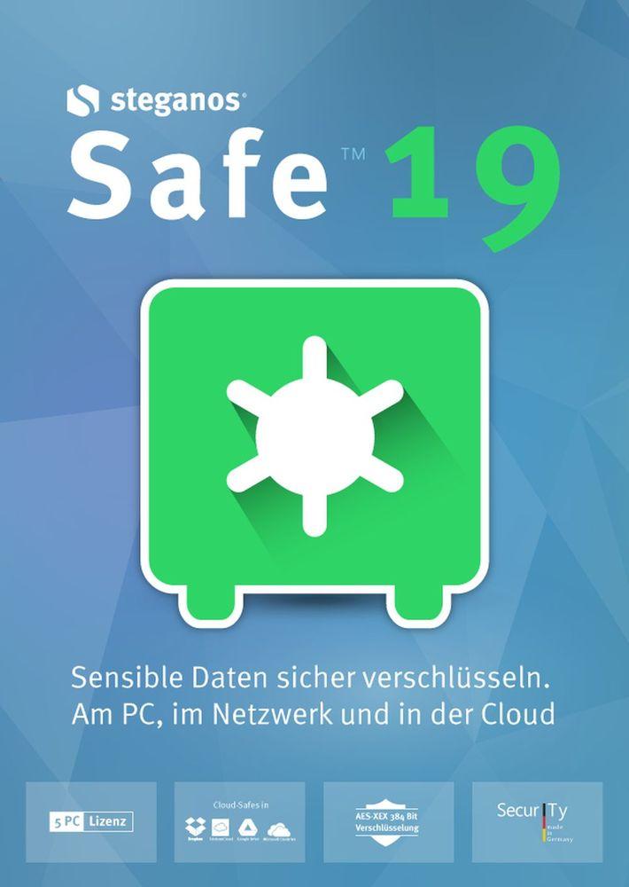 Steganos Safe 19 - Sensible Daten sicher verschlüsseln! Windows 10|8|7 [Download]