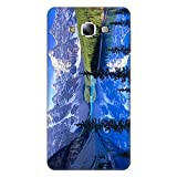 Bhishoom Designer Printed Back Case Cover for Samsung Galaxy E7 (2015) :: Samsung Galaxy E7 Duos :: Samsung Galaxy E7 E7000 E7009 E700F E700F/Ds E700H E700H/Dd E700H/Ds E700M E700M/Ds (Scenery :: Snow :: Mountain :: Waterfall :: Scennic)
