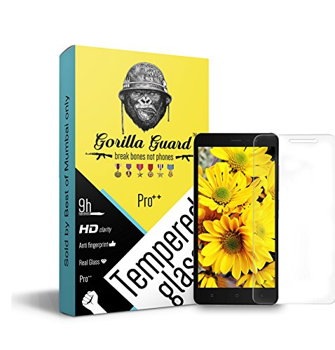 Gorilla guard\'s Pro Series Tempered Glass for Xiaomi Redmi Note 3 with HD+ Ultra Clear Edge to Edge 9H Hardness, UV Protect & Anti-Smudge Technology Tempered Glass Phone Protector