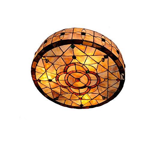 18 Zoll Tiffany Stil Glasmalerei Deckenleuchte Moderne Vintage Blumenmuster Schatten Esszimmer Schlafzimmer Beleuchtung