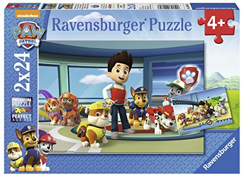 Paw Patrol - Puzzle, 2 x 24 piezas (Ravensburger 09085 3)