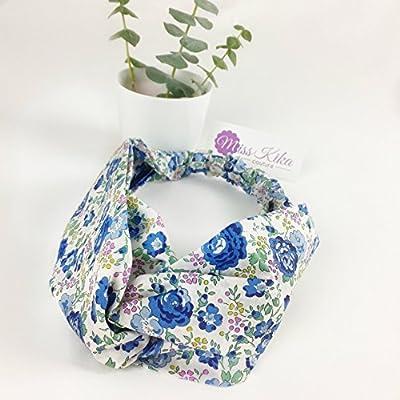 Headband bandeau cheveux femme en tissu LIBERTY of London, 2 bandes élastiquées, accessoire cheveux. Modèle SARAH