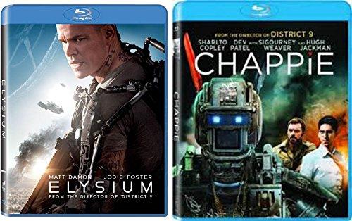 Neil Blomkamp Double Feature South African Sci-Fi Hits - Chappie & Elysium (2-Blu-Ray Bundle) Matt Damon Die Antwoord
