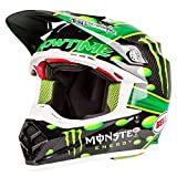 Bell Helmet Moto-9 Flex Mcgrath Monster, Grün/Schwarz, Größe L