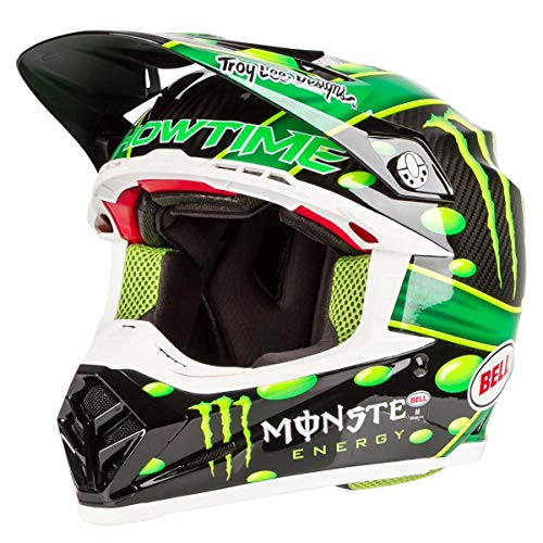 Bell 7093190 Casco per Moto, Mcgrath Monster Green/Black, Taglia M