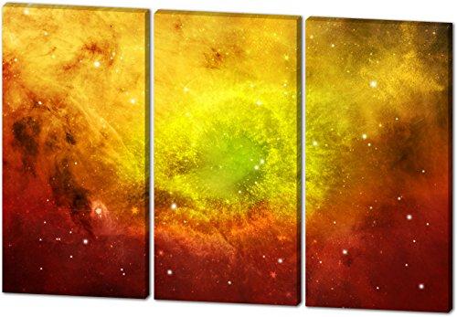 Das etwas andere Farbenspiel, schönes und hochwertiges Leinwandbild zum Aufhängen in XXL - 3 Teiler mit 120cm x 80cm, echter Holzrahmen, effektiver Pigmentdruck, modernes Design für Ihr Büro oder Zimmer