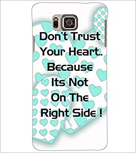 PrintDhaba Quote D-4904 Back Case Cover for SAMSUNG GALAXY ALPHA (Multi-Coloured)