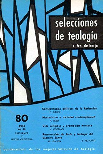 Selecciones de Teología Nº 80. 1981