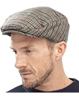 New Adults Unisex Mens Ladies Tweed Country Style Flat Cap Hat Fully Lined