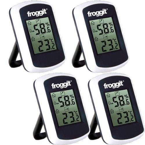 froggit Thermometer FT0042 Set 4 Stück Digital Hygrometer Luftfeuchtigkeit Raumklima