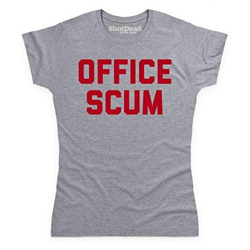 Office Scum T-Shirt, Damen Grau Meliert