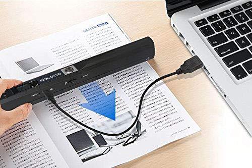 Handscanner Aoleca 900DPI Tragbarer Mobile Dokumentenscanner A4/B5 Scanner Visitenkartenscanner s/w und Farbe (Erweitern 8G Micro SD Karte, Hi-Speed USB 2.0 und OCR Software enthalten) - 6
