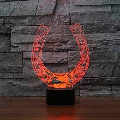 Usb Nachttischlampe Schlaf Led Licht Dekor Visuelle Hufeisen Kreative Nachtlichter 7 Farben Tischlampe U-förmigen Leuchten Geschenke ()