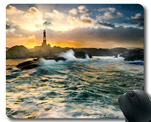 Preisvergleich Produktbild Genähte Kanten-Mauspads,  Cape Lighthouse Gaming Mouse Pad